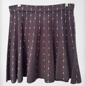 Candie's Black White Knit Flare Mini Skirt